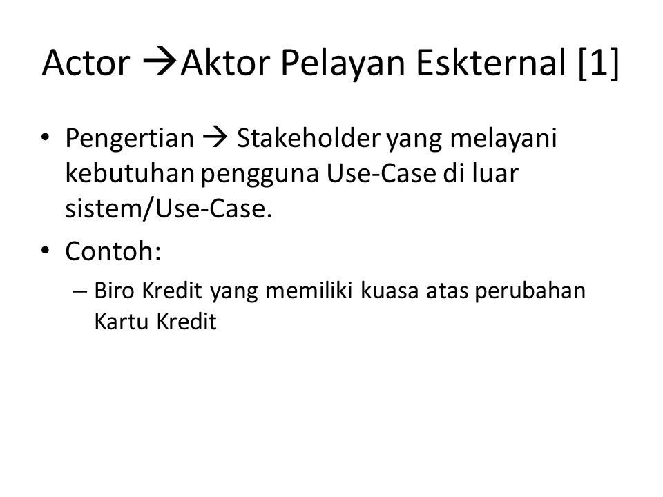 Actor Aktor Pelayan Eskternal [1]